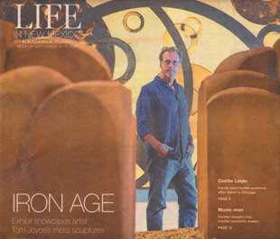 Exhibition showcases artist Tom Joyce's explorations of iron. Albuquerque Journal North, September 10, 2017